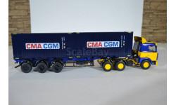 МАЗ 6422 ж-с с полуприцепом-контейнеровозом МАЗ-938920 с контейнерами CMA CGM, сборная модель автомобиля, AVD для SSM, scale43