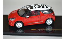 Citroen DS3 'Sport Chic' - redwhite 2011, масштабная модель, ixo, scale43