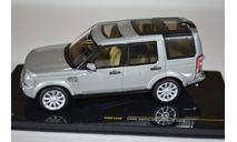 Land Rover Discovery 4 2009 серебристый, масштабная модель, ixo, scale43