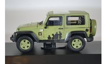 JEEP Wrangler 4х4 U.S.Army Limited Edition (Hard Top) 2012 светло-зеленый, масштабная модель, Greenlight Collectibles, 1:43, 1/43