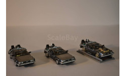 De Lorean DMC 12 Back to the Future (three pack, масштабная модель, 1:43, 1/43, Vitesse