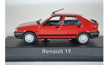 Renault 19 1989 Vivid Red, масштабная модель, Norev, scale43