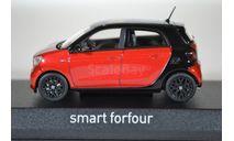 Smart Forfour (W453) 2015 BlackRed, масштабная модель, Norev, scale43