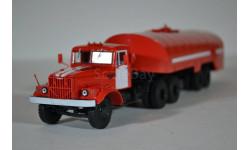 КрАЗ 258Б1 с полуприцепом-цистерной ТЗ-22 (пожарный), масштабная модель, Автоистория (АИСТ), scale43