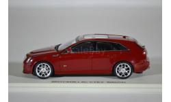 Cadillac CTSV Sport Wagon 2011 Crystal Red Raven, масштабная модель, Luxury, 1:43, 1/43