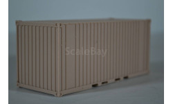 контейнер 20 ft кирпичный ЦВЕТНОЙ ПЛАСТИК!!!!!, масштабная модель, ЛХЛ, 1:43, 1/43