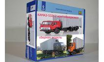 Сборная модель  КАМАЗ-53212 контейнеровоз, сборная модель автомобиля, AVD Models, 1:43, 1/43
