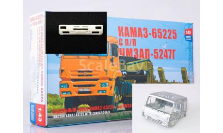 Сборная модель КАМАЗ-65225 с полуприцепом ЧМЗАП-5247Г, сборная модель автомобиля, AVD Models, scale43
