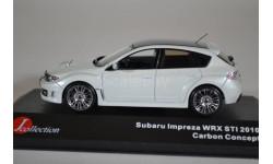 Subaru Impreza WRX STi Carbon Edition 2010 белый, масштабная модель, J-Collection, scale43