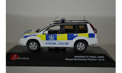 NISSAN X-TRAIL 2008 BARBADOS Police, масштабная модель, J-Collection, 1:43, 1/43