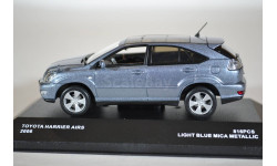 Toyota HARRIER AIRS 2007 LEXUS RX (LIGHT BLUE METALLIC), масштабная модель, J-Collection, scale43