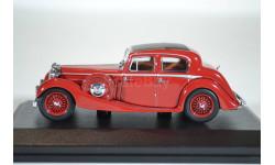 Jaguar SS 2.5 Saloon Maroon 1937, масштабная модель, Oxford, scale43