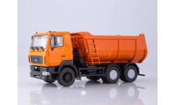МАЗ-6501 самосвал, U-образный кузов (оранжевый), масштабная модель, Автоистория (АИСТ), scale43