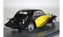 BUGATTI Type 46 Superprofile Coupe 1930 YellowBlack, масштабная модель, Matrix, scale43