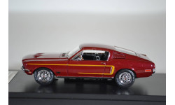 FORD MUSTANG GT390 Fastback 1968 бордовый, масштабная модель, Premium X, scale43
