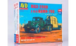 Сборная модель МАЗ-200В с полуприцепом НАМИ-790, сборная модель автомобиля, AVD для SSM, 1:43, 1/43