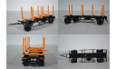 МАЗ-6303 сортиментовоз с прицепом МАЗ-83781, масштабная модель, 1:43, 1/43