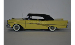 Ford Fairlane 500 1958 Convertible желтый с черным тентом, масштабная модель, Sunstar, scale18