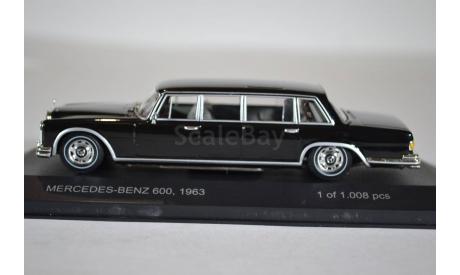 Mercedes-Benz 600 Pullmann W100 1963, масштабная модель, WhiteBox, scale43
