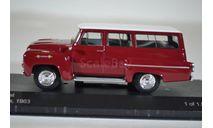 CHEVROLET Amazona 4х4 1963 красный белый, масштабная модель, WhiteBox, scale43