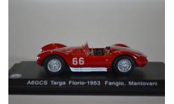 MASERATI A6GCS #66 J.M.Fangio Targa Florio 1953, масштабная модель, WhiteBox, 1:43, 1/43