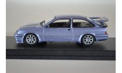 FORD Sierra Cosworth RS500 1988 голубой мет, масштабная модель, WhiteBox, 1:43, 1/43