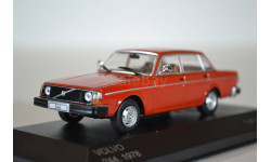 Volvo 244 1978 красный, масштабная модель, WhiteBox, 1:43, 1/43