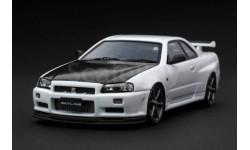 Nissan Skyline GT-R V-spec II N1 (R34) White 1/43 HPI (Mirage)