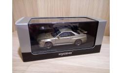 СКИДКА!!! Nissan Skyline GT-R (BNR34) M-spec Selica Brass 1/43 Kyosho, масштабная модель, 1:43