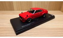 СКИДКА!!! Nissan Skyline 2000 GT-R (KPGC10) Private Racing Edition (Red) 1/43 Kyosho, масштабная модель, 1:43