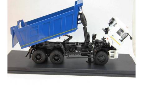 КАМАЗ-6522 6х6 самосвал, белый/синий, масштабная модель, 1:43, 1/43, Start Scale Models (SSM)