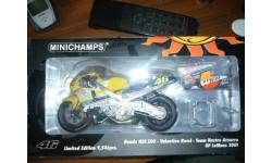 1/12 гоночный мотоцикл Honda NSR 500 GP LE MANS 2001 #46 Rossi Minichamps 1:12, масштабная модель мотоцикла, scale12