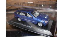 модель 1/43 Mercedes-Benz C-класс W203 T универсал лимитированный выпуск Minichamps металл, масштабная модель, 1:43