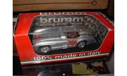Лимитированная модель 1/43 Mercedes 300SLR гоночный Mille Millia 1955 Karl Kling Brumm металл 1:43 Mercedes-Benz Мерседес
