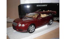 модель 1/18 Bentley Continental GTC Cabrio 2006 Minichamps металл 1:18, масштабная модель, scale18