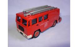 модель пожарный 1/55 BERLIET GAK 17 FOURGON MIXTE Solido France металл 1:55