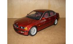 модель 1/18 BMW 328i E46 седан UT Models металл 1:18 красный металлик