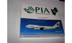 1:600 самолёт Boeing 747-300 PIA Pakistan Schabak 1/600