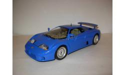 модель 1/18 Bugatti 110EB 1991 Burago металл 1:18 синий