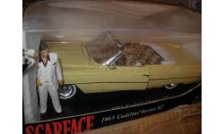 модель 1/18 Cadillac 1963 Series 62 'Scarface' Tony Montana Jada металл Кадиллак 1:18