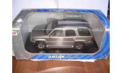 модель 1/18 Cadillac Escalade 2002 Anson металл 1:18, масштабная модель, scale18