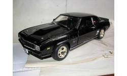 модель 1/18 Chevrolet Camaro 1969 SS427 Motion ERTL металл, масштабная модель, scale18