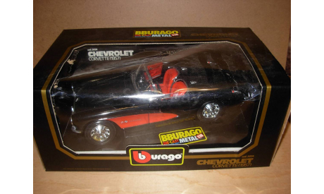 модель 1/18  Chevrolet Corvette 1957 Burago металл Italy, масштабная модель, 1:18, Ferrari