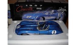модель 1/18 Chevrolet Corvette SS спорт-прототип 1957 Корвет Autoart металл 1:18