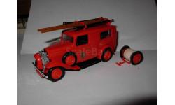 модель 1/43 Citroen 500 kgs пожарный фургон Eligor France металл 1:43, масштабная модель, scale43, Citroën