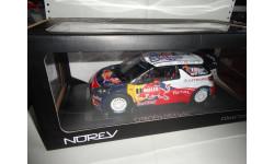 1/18 гоночная модель Citroen DS3 WRC #1 Rally Champion 2011 Norev металл