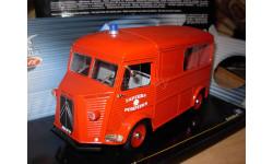 модель пожарная 1/18 Citroen H Solido металл 1:18 пожарный фургон, масштабная модель, Citroën