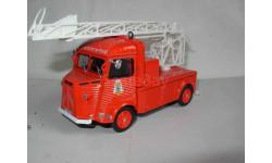 модель  1/43 пожарый, лестница Citroen H Eligor металл