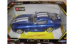 модель 1/18 Dodge Viper SRT10 Burago металл, масштабная модель, 1:18