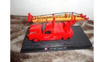 модель  1/43 пожарый Peugeot 403 1967 DelPrado металл 1:43, масштабная модель, Del Prado